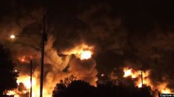 Explosion du train au Québec : des images au plus près des
