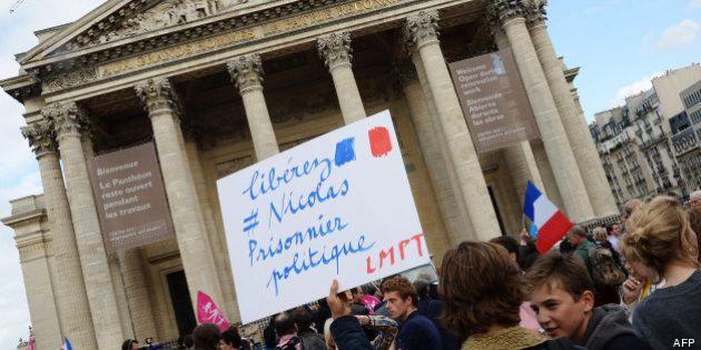 Manif pour tous: simple amende en appel pour Nicolas Buss, l'opposant qui avait été