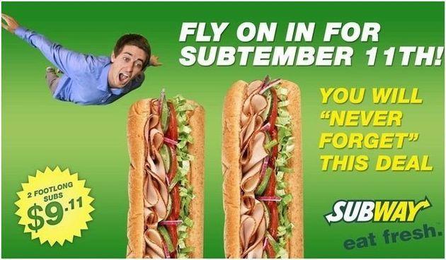 PHOTO. Une fausse pub Subway sur le 11 Septembre fait parler d'elle aux
