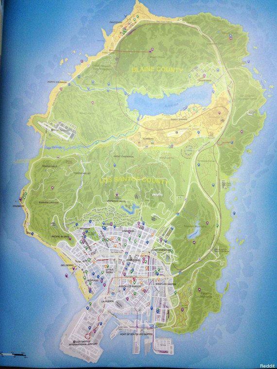 GTA 5: la carte du jeu dévoilée par des