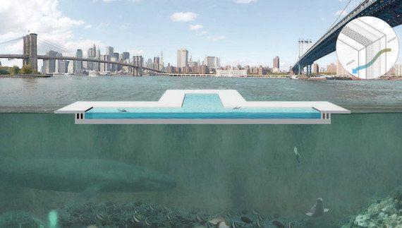 Piscine insolite : les habitants de New York pourront bientôt se baigner dans l'East