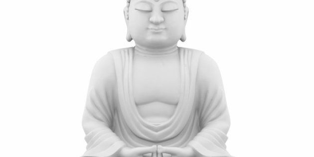 buddha sitting 3d model isolated