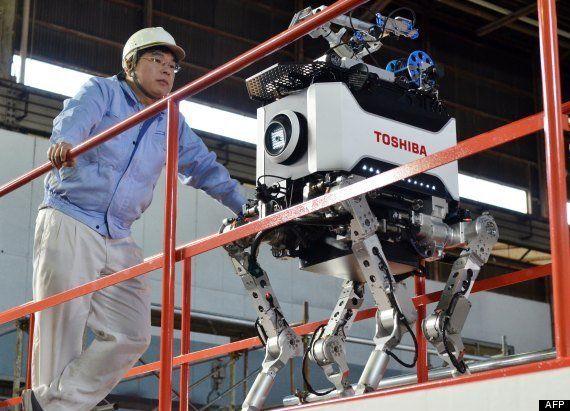 PHOTOS. Un robot quadrupède japonais pour intervenir à