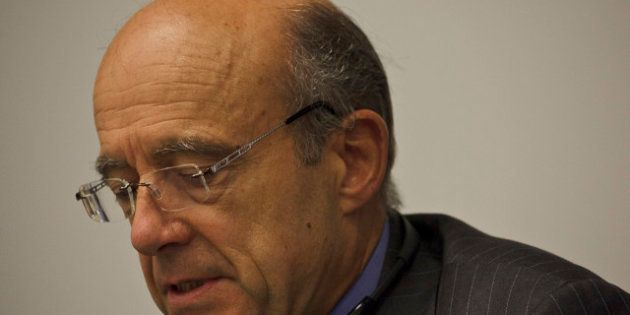 Minister of Foreign Affairs of France Alain Marie Juppé at the Conference on Facilitating the Entry into...