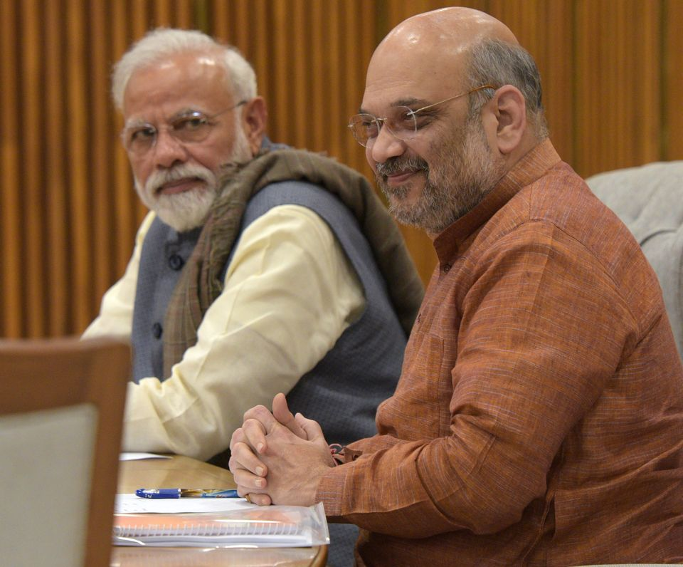 Prime Minister Narendra Modi and BJP President Amit Shah attend the BJP Central Election Committee meeting...