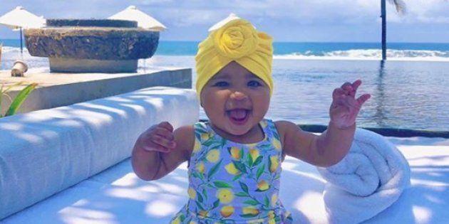 Comme True Thompson, la fille de Khloe Kardashian et Tristan Thompson, trouvez le plus beau turban pour