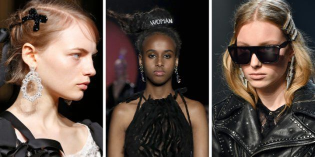 Des barrettes aperçues sur les podiums de chez Simone Rocha, Ashley Williams, ou Zadig et
