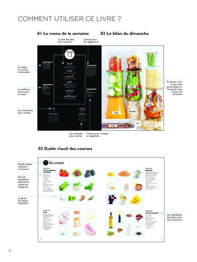 Les menus et la liste de courses du livre de batch-cooking de Keda