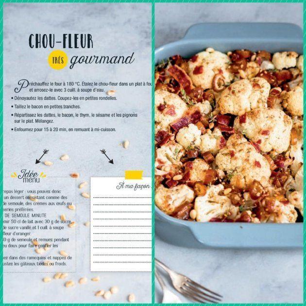 Un exemple de recette à assembler proposé par le livre de recettes d'Anne