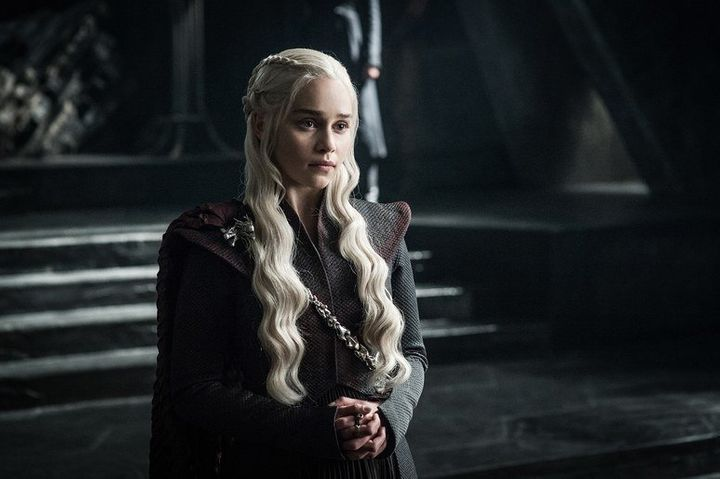 "Emilia Clarke asDaenerys Targaryen in ""Games of Thrones."""