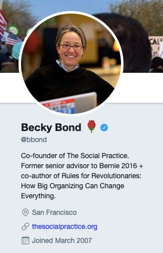 On her Twitter account, Bond continued to sport the rose emoji associated with the pro-single-payer Democratic Socialists of