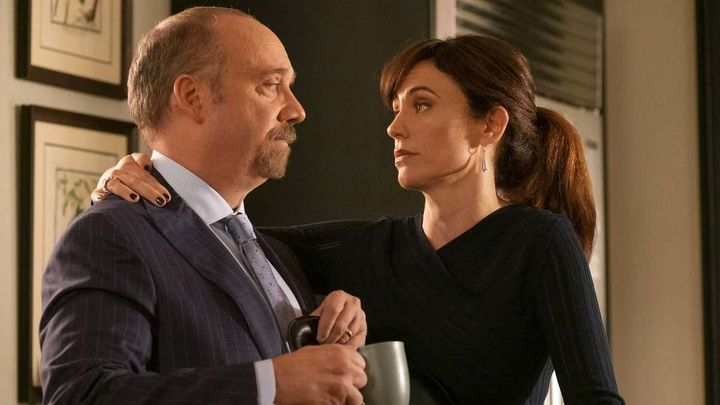 "Paul Giamatti and Maggie Siff in ""Billions"" on Showtime."