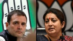 It's Rahul Gandhi Vs Smriti Irani Again In