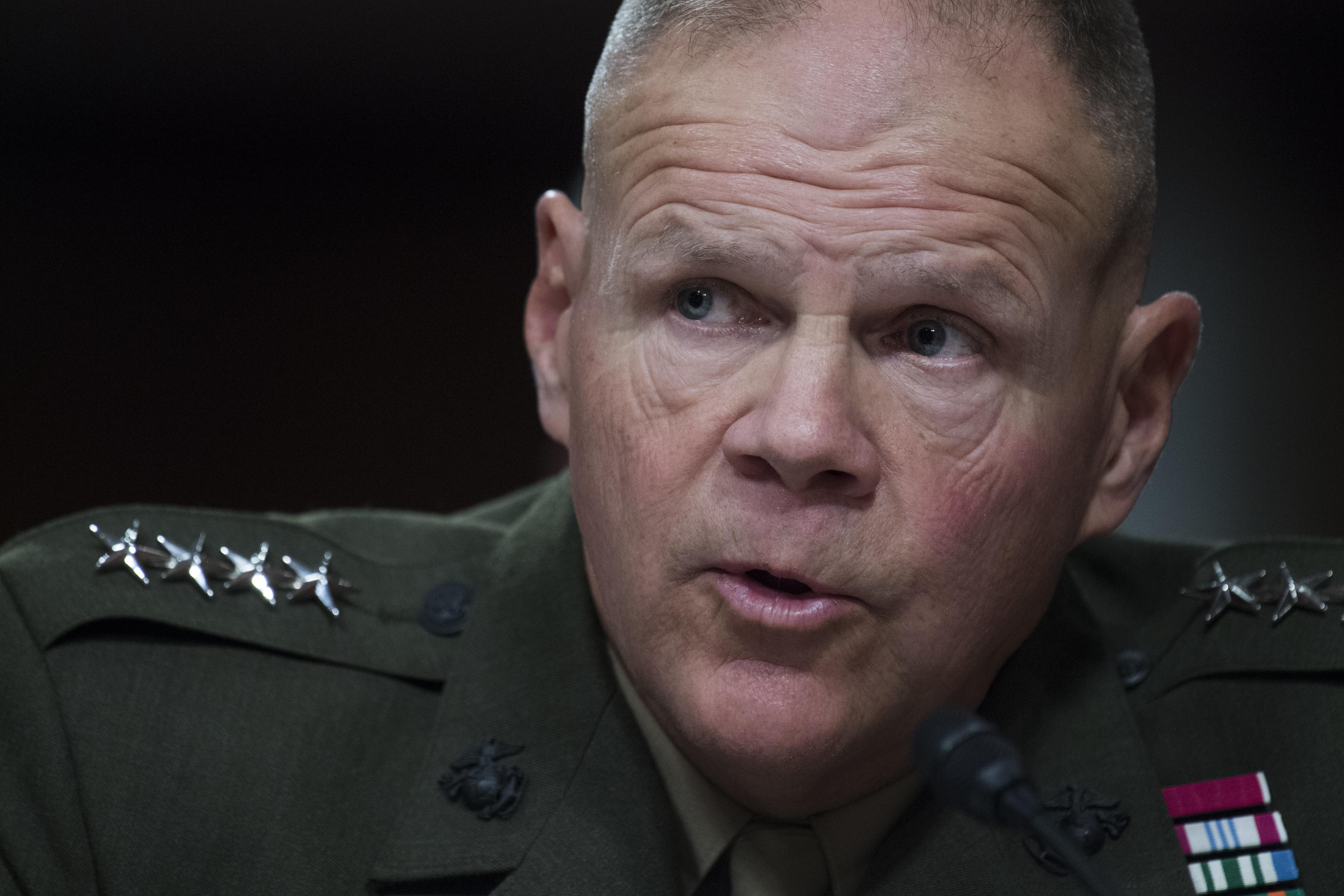 Gen. Robert Neller Calls Deployment 'Unacceptable Risk' To 'Combat Readiness'