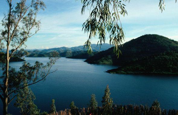 Lake Kivu, Gisenyi, Rwanda, East Africa,