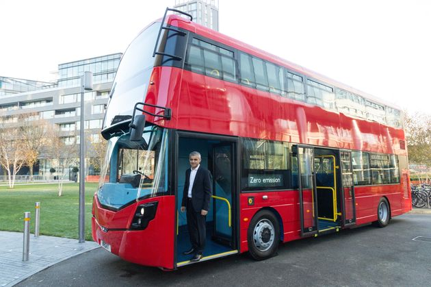 LONDON, ENGLAND - NOVEMBER 30: London mayor Sadiq Khan makes a keynote speech at the International Zero...