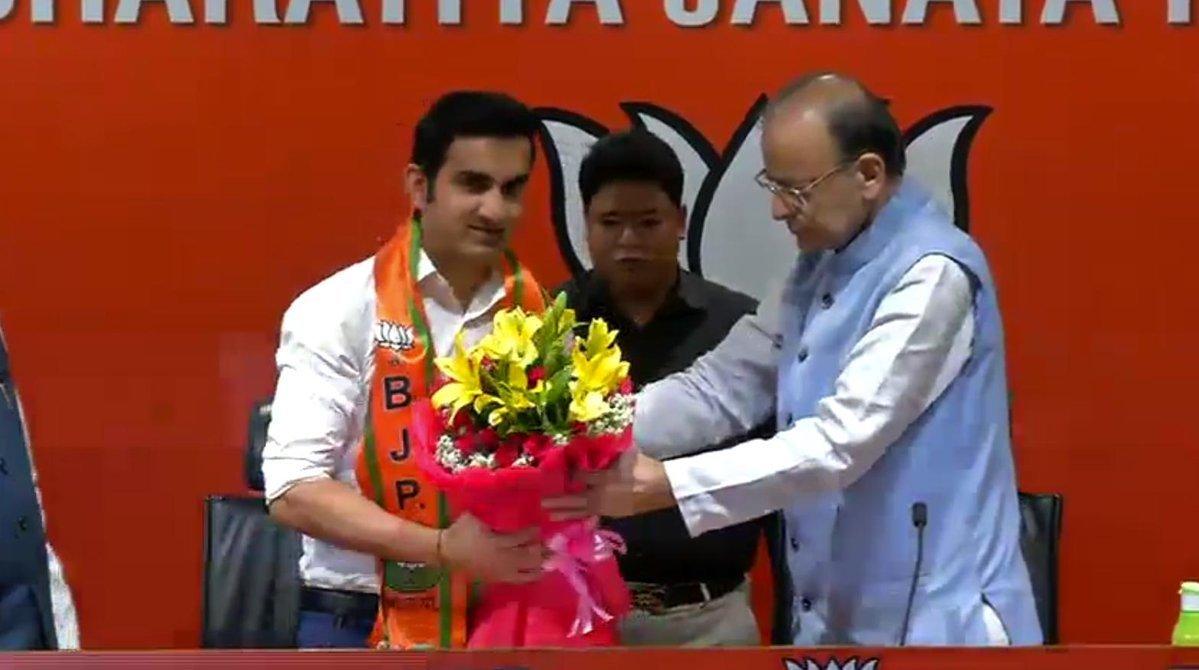 Former Cricketer Gautam Gambhir Joins BJP, Says Inspired By Modi's