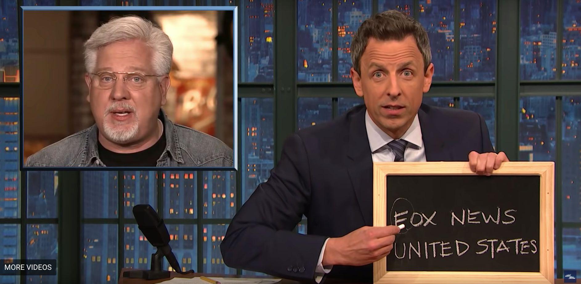 Seth Meyers Trolls Glenn Beck With A Not-So-Subtle Chalkboard
