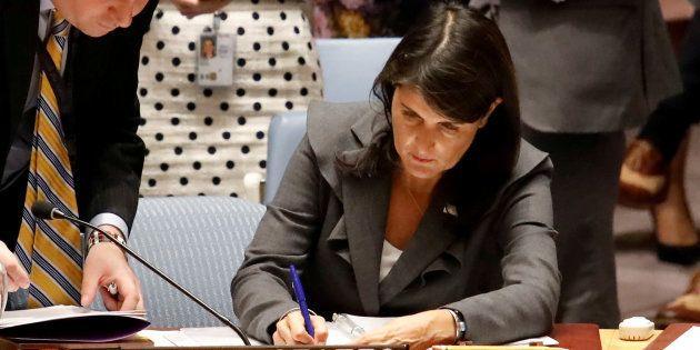 L'ambassadrice américaine Nikki Haley à l'ONU le 1er juin