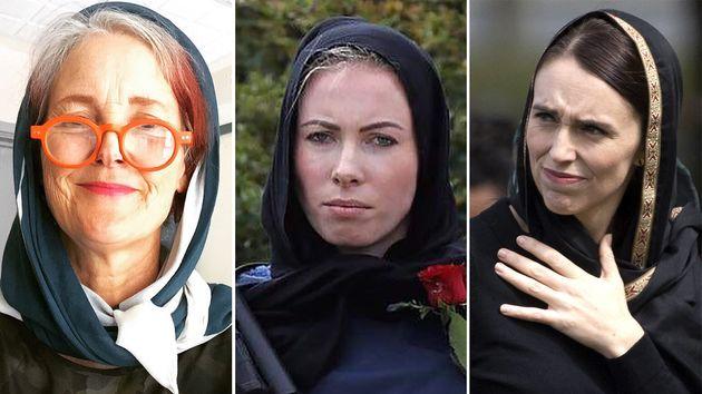 De gauche à droite, une universitaire néo-zélandaise, une policière présente...