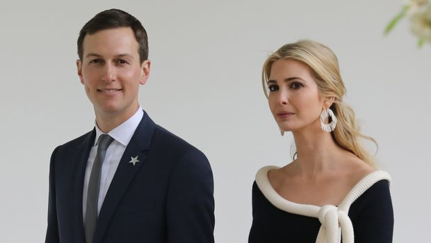 US President special advisor Jared Kushner (L) and his wife Ivanka Trump arrive for the a state welcome ceremony honoring French President Emmanuel Macron at the White House in Washington, DC, on April 24, 2018. (Photo by LUDOVIC MARIN / AFP)        (Photo credit should read LUDOVIC MARIN/AFP/Getty Images)