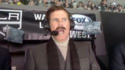 Will Ferrell's Ron Burgundy Calls Real NHL Game And It's Puckin'