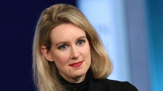 Elizabeth Holmes, CEO of Theranos, participates in the closing plenary session of the Clinton Global Initiative 2015 Annual Meeting at the Sheraton New York Times Square Hotel, on Tuesday, Sept. 29, 2015 in New York. (Photo by Greg Allen/Invision/AP)
