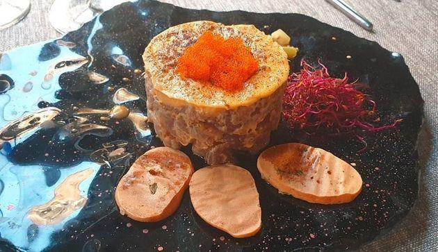 Tartar de atún, de Los Montes de Galicia, en