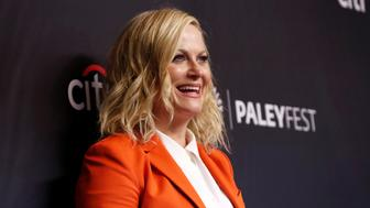 "Cast member Amy Poehler poses at an event for the 10th anniversary of the television series ""Parks and Recreation"" during PaleyFest LA in Los Angeles, California, U.S., March 21, 2019. REUTERS/Mario Anzuoni"