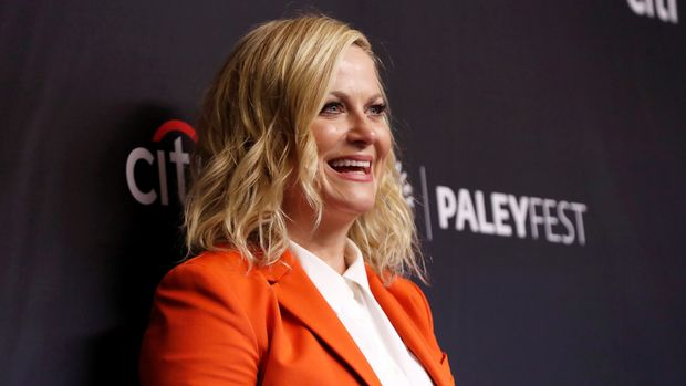 """Cast member Amy Poehler poses at an event for the 10th anniversary of the television series """"Parks and Recreation"""" during PaleyFest LA in Los Angeles, California, U.S., March 21, 2019. REUTERS/Mario Anzuoni"""