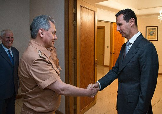 Στη Δαμασκό ο Ρώσος υπουργός Άμυνας. Απάντηση στην περιοδεία
