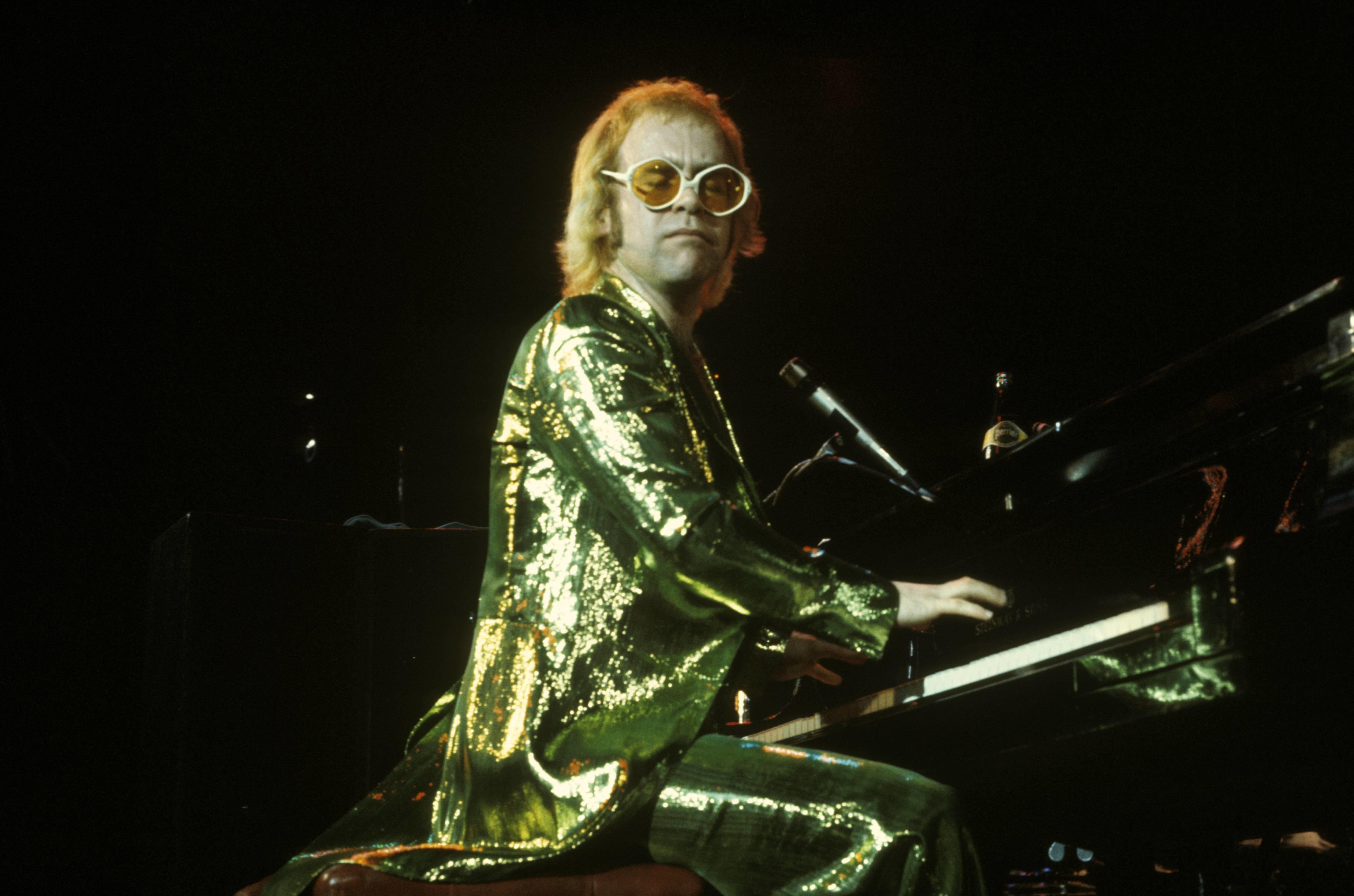 David Warner Ellis via Getty Images. Elton John