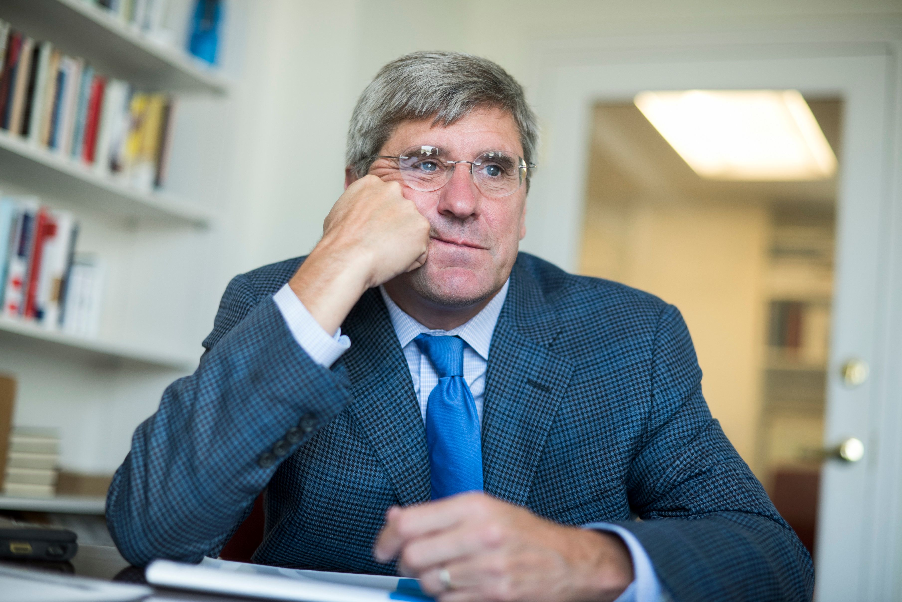Stephen Moore of The Heritage Foundation in his Washington office in August 2016.