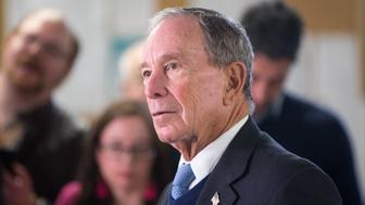 NASHUA, NH - JANUARY 29:  Former New York City Mayor Michael Bloomberg speaks with the media after touring the W.H. Bagshaw Company during an exploratory trip on January 29, 2019 in Nashua, New Hampshire. Michael Bloomberg is mulling a run for president in 2020 and said would make a decision in the coming weeks. (Photo by Scott Eisen/Getty Images)