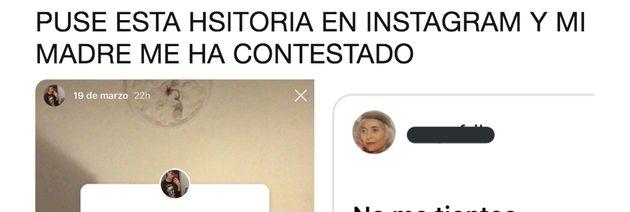 Publica un mensaje victimista en Instagram.... y la respuesta de su madre pasará a la