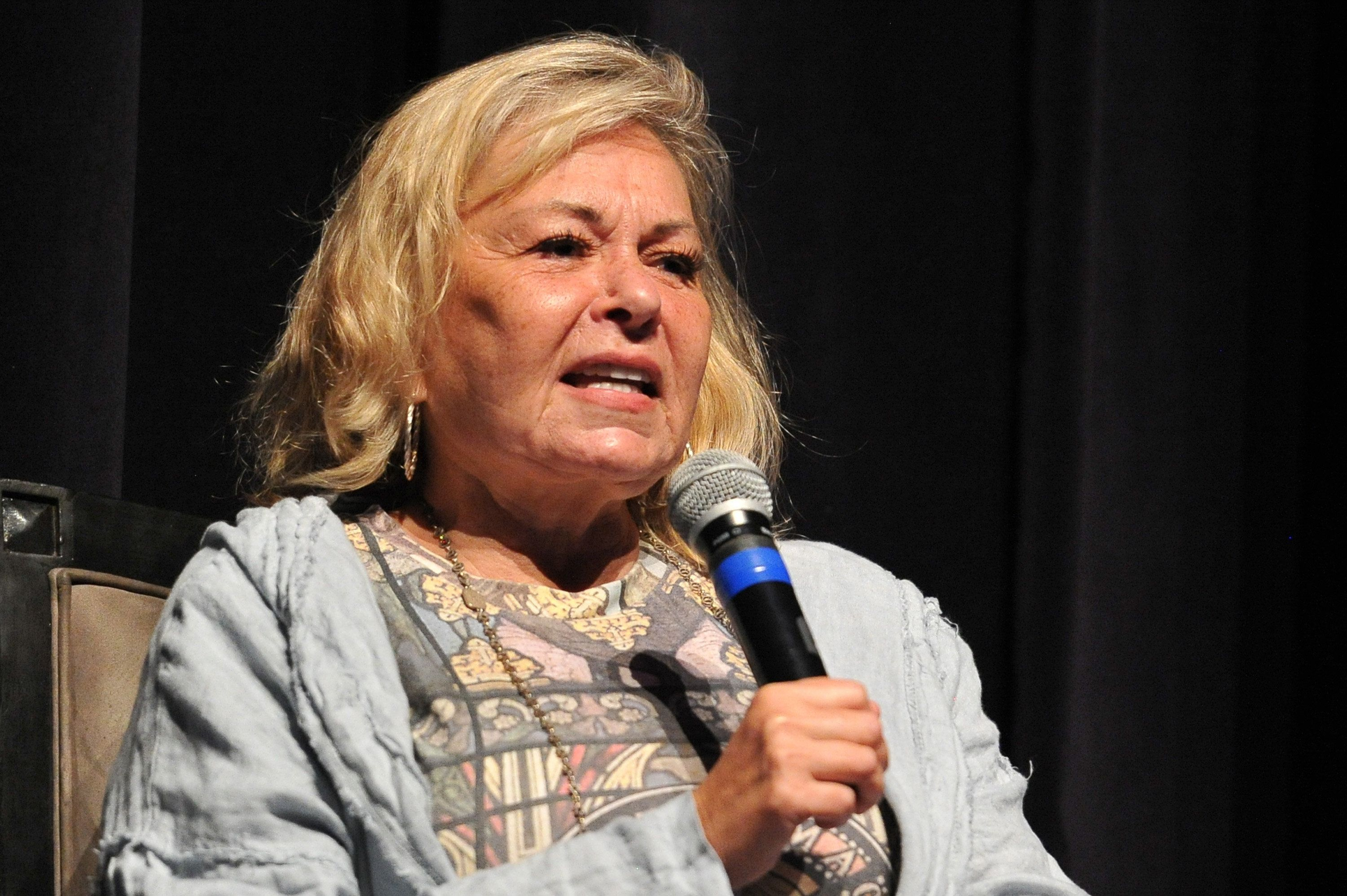 BEVERLY HILLS, CA - SEPTEMBER 17:  Roseanne Barr participates in 'Is America a Forgiving Nation?,'' a Yom Kippur eve talk on forgiveness hosted by the World Values Network and the Jewish Journal at Saban Theatre on September 17, 2018 in Beverly Hills, California.  (Photo by Rachel Luna/Getty Images)