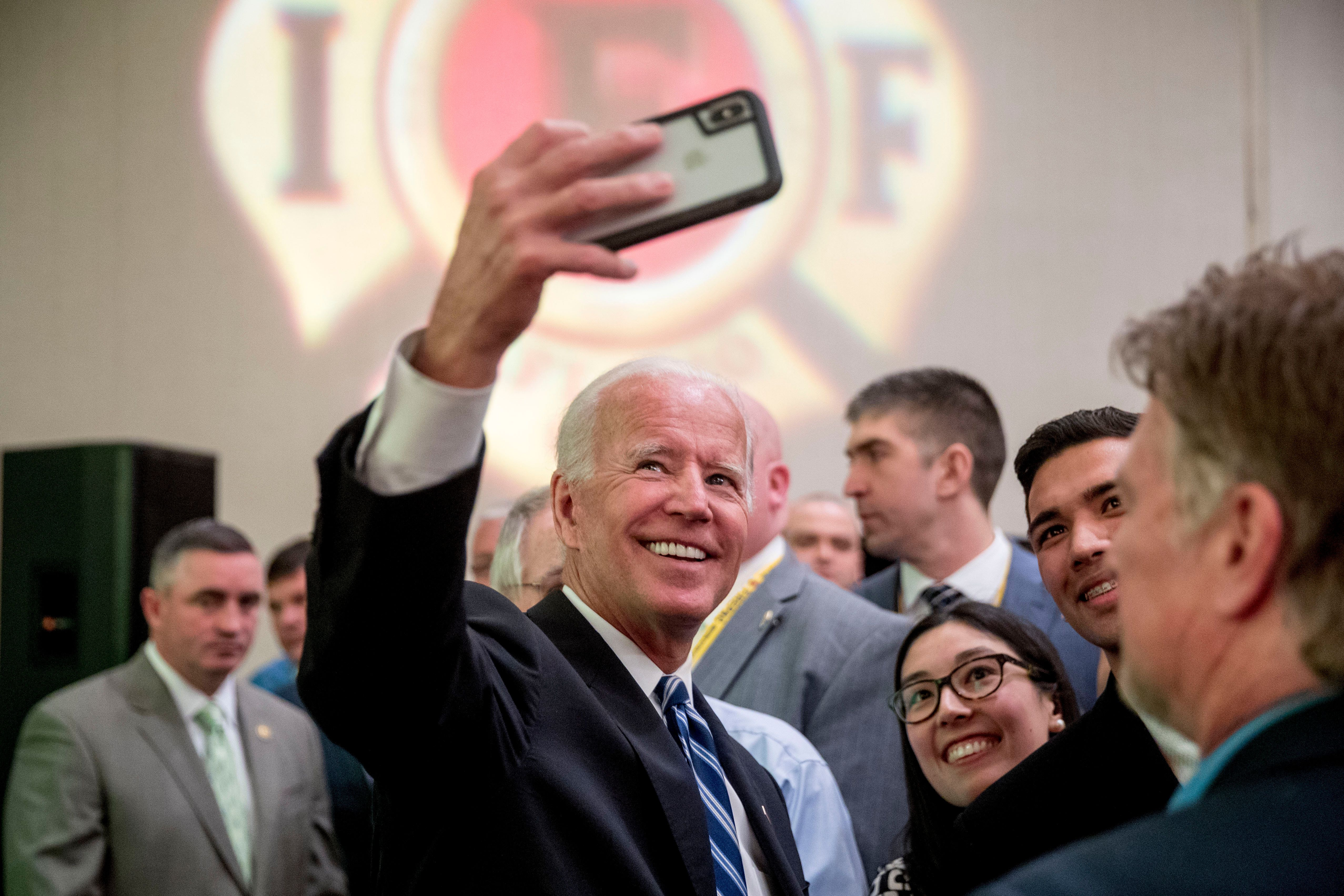 Former Vice President Joe Biden is getting more positive attention than declared Democratic presidential candidates are.