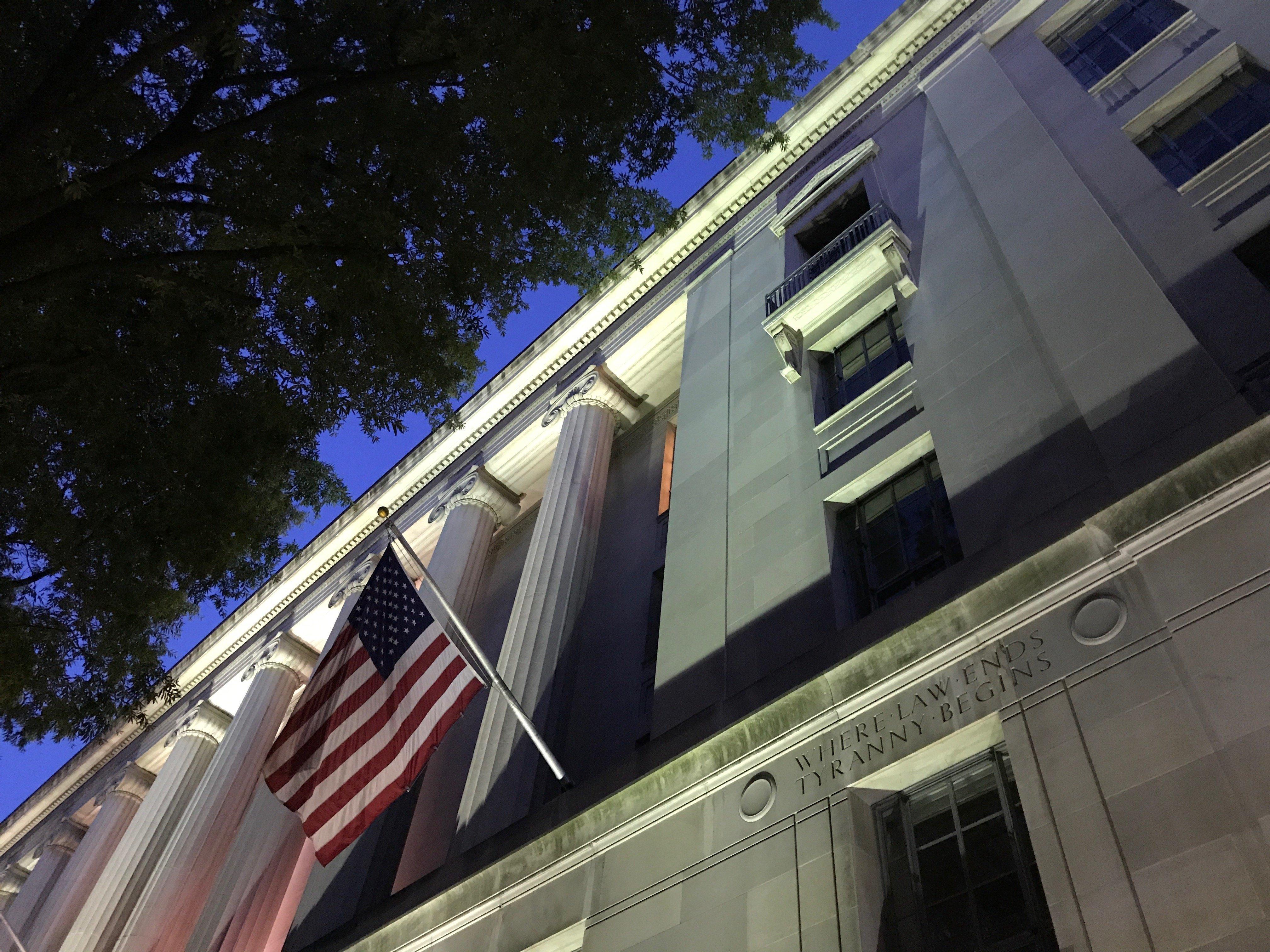 Justice Department headquarters.