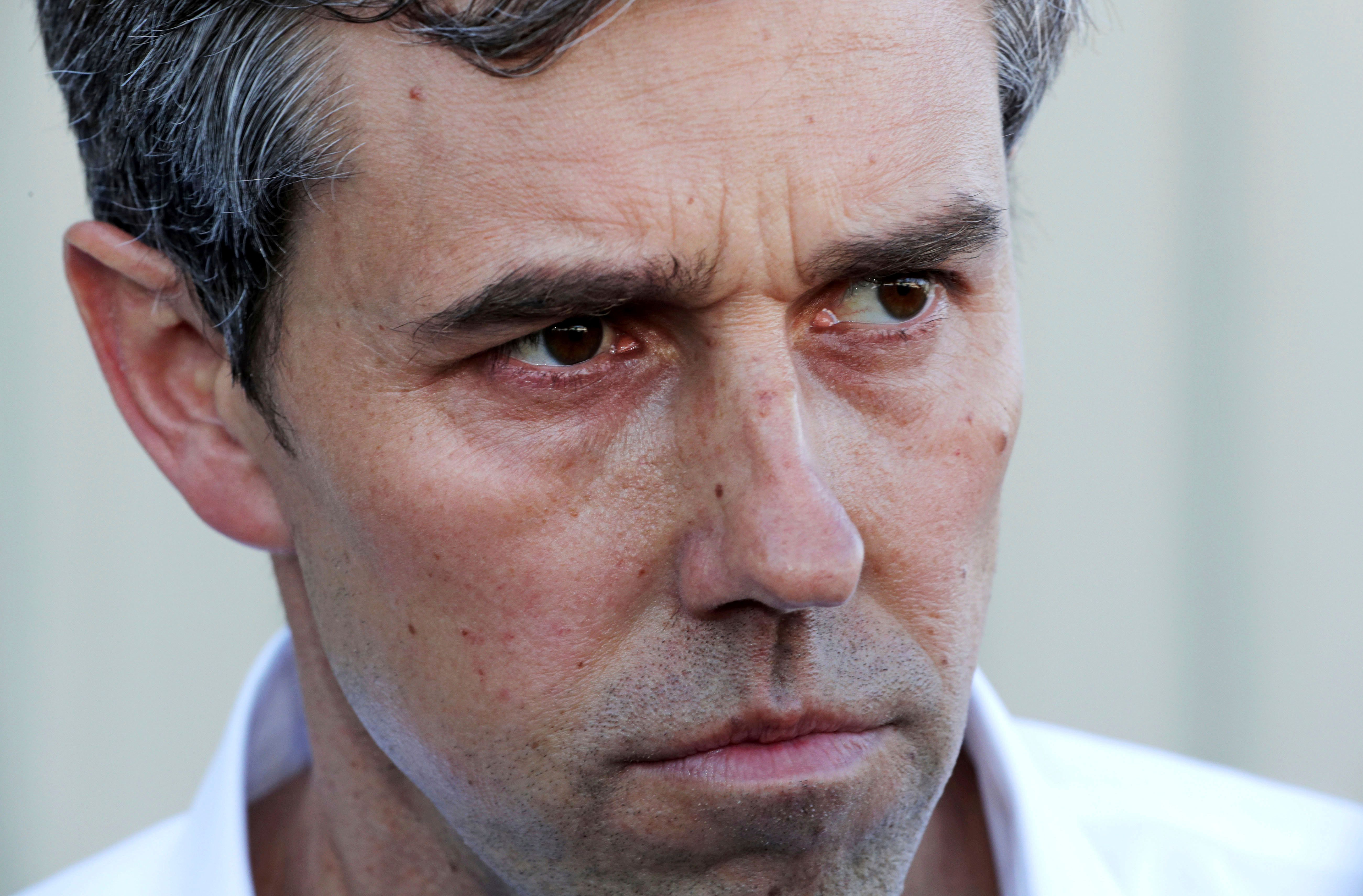 Former Texas congressman Beto O'Rourke listens to a question during a campaign stop at a brewery in Conway, N.H., Wednesday, March 20, 2019. O'Rourke announced last week that he'll seek the 2020 Democratic presidential nomination. (AP Photo/Charles Krupa)