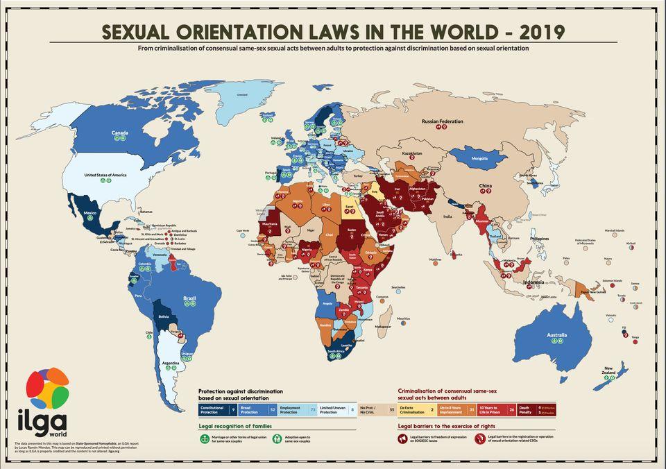 Relatório da ILGA aponta que 70 países ao redor do mundo ainda criminalizam relações...