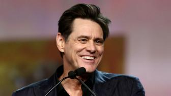 PALM SPRINGS, CA - JANUARY 03:  Jim Carrey presents the Vanguard Award onstage at the 30th Annual Palm Springs International Film Festival Film Awards Gala at Palm Springs Convention Center on January 3, 2019 in Palm Springs, California.  (Photo by Rich Fury/Getty Images for Palm Springs International Film Festival )