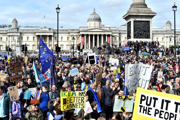 Hundreds of thousands march for a People's Vote in