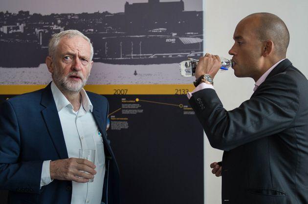 Labour Leader Jeremy Corbyn and TIG MP Chuka