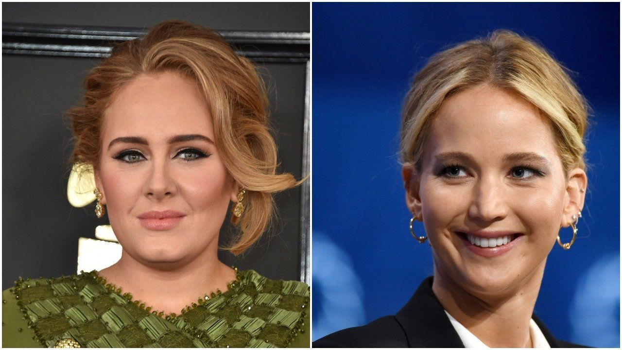 Adele, Jennifer Lawrence (Associated Press/Getty Images)