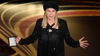 "Barbra Streisand introduces ""BlacKkKlansman"" at the Oscars on Sunday, Feb. 24, 2019, at the Dolby Theatre in Los Angeles. (Photo by Chris Pizzello/Invision/AP)"