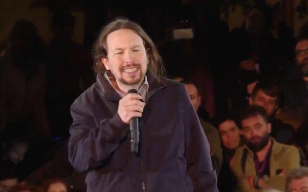 Críticas a Pablo Iglesias por lo que ha hecho durante su discurso en apenas cinco