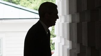 The silhouette of Robert Mueller, former director of the Federal Bureau of Investigation (FBI) and special counsel for the U.S. Department of Justice, is seen as he leaves the U.S. Capitol Building following a meeting with the Senate Judiciary Committee in Washington, D.C., U.S., on Tuesday, June 20, 2017. Senators on the Intelligence Committee pressed administration officials Wednesday to disclose more about the extent of Russian hacking attempts during last year's election after the government disclosed that 21 states had been targeted. Photographer: Zach Gibson/Bloomberg via Getty Images