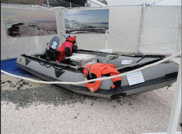 La drogue a été saisie autour d'un bateau semi-rigide qui semblait suspect./Photo