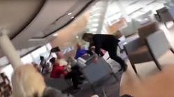 Un vídeo capta los momentos de pánico en el interior del crucero noruego