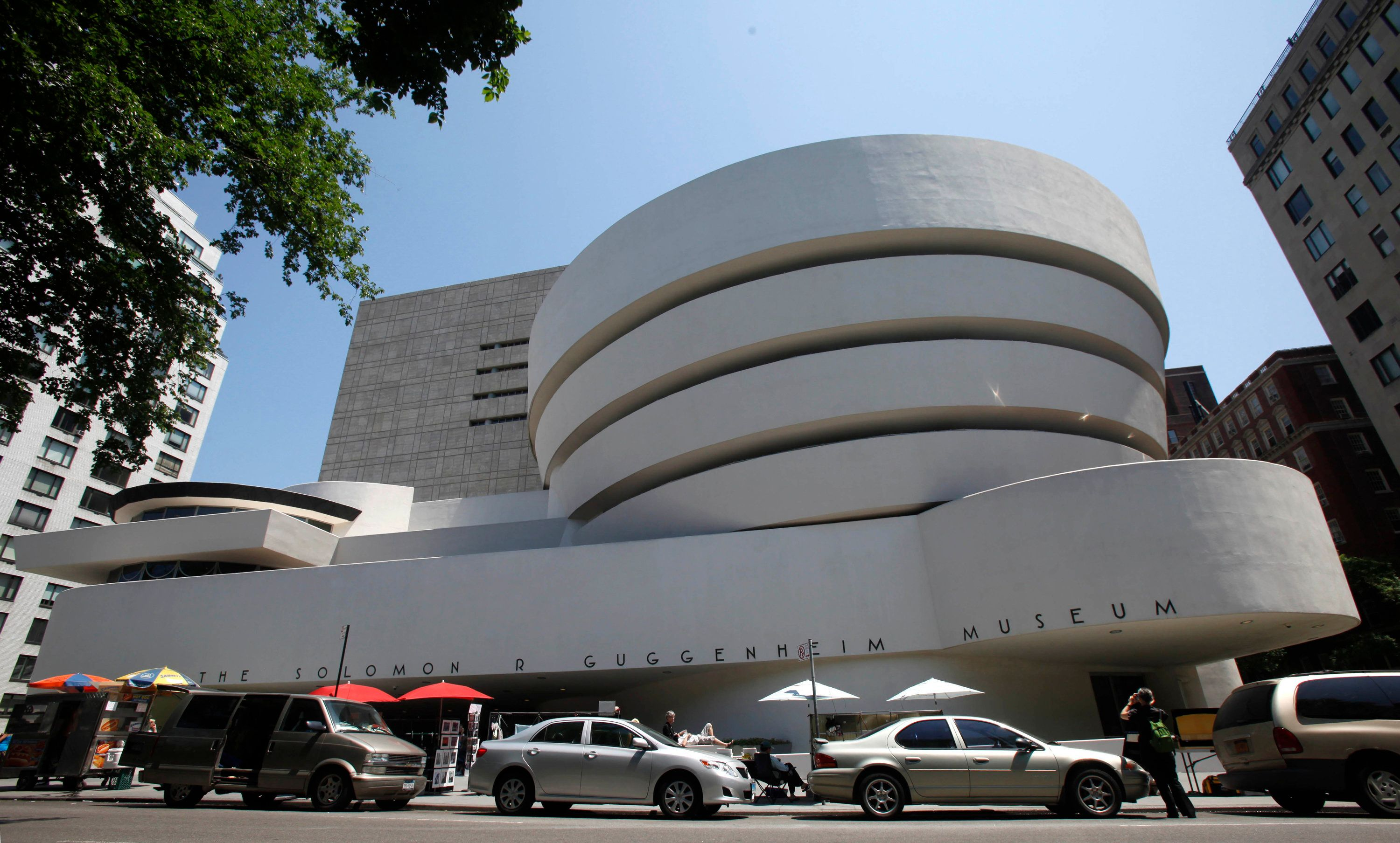 FILE - This May 31, 2011 file photo shows the exterior of Frank Lloyd Wright's Solomon R. Guggenheim Museum in New York. Thursday, June 8, 2017 marks the 150th anniversary of Wright's birth. His innovative designs continue to fascinate the public, from New York's circular, sculptural Guggenheim museum, to the famous Fallingwater in the Pennsylvania woods, to his modernist Wisconsin home, Taliesin, which served as a laboratory for his ideas. (AP Photo/Kathy Willens, File)
